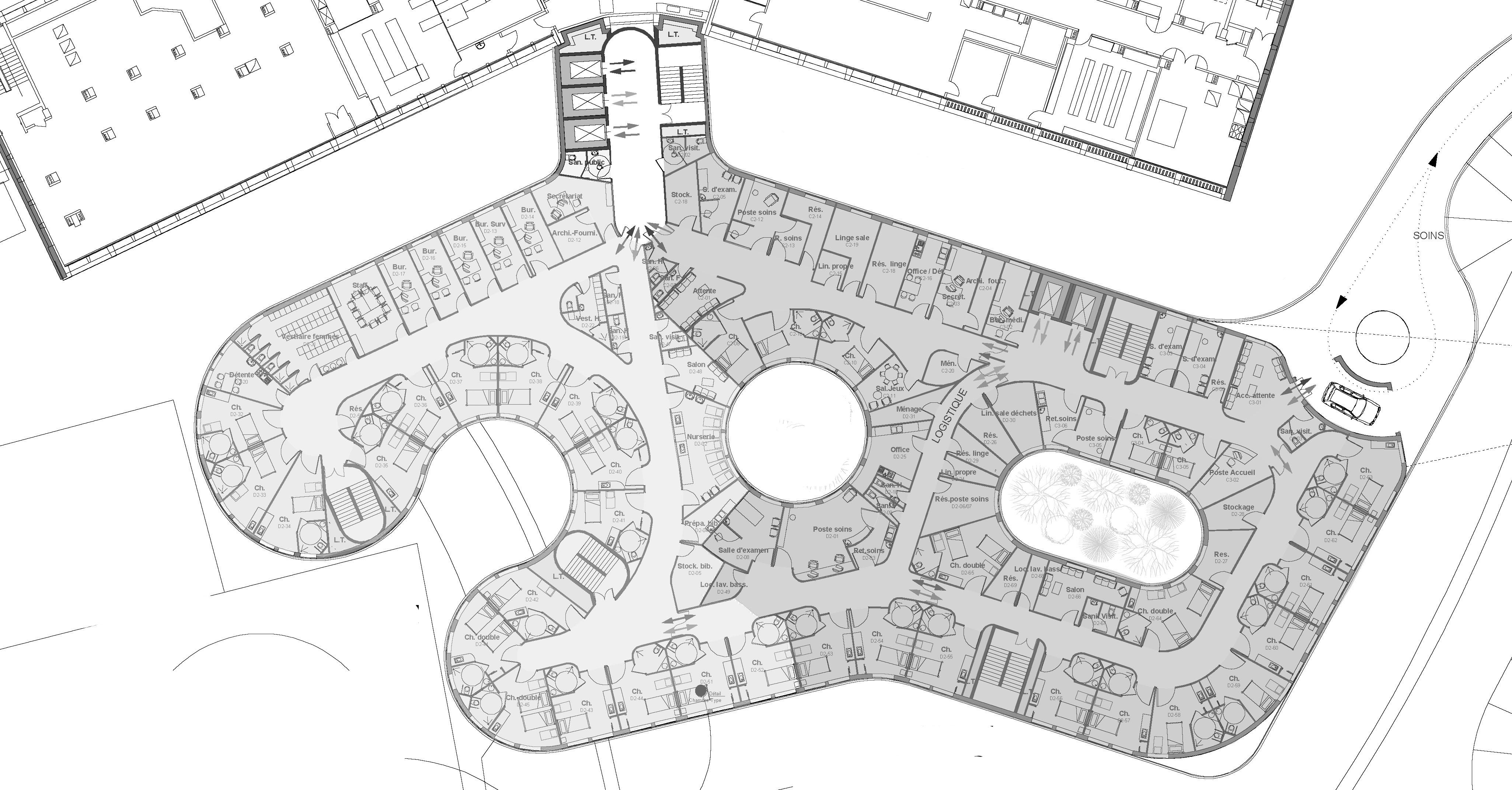 pole mere enfant lisieux zoomfactor architectes paris. Black Bedroom Furniture Sets. Home Design Ideas