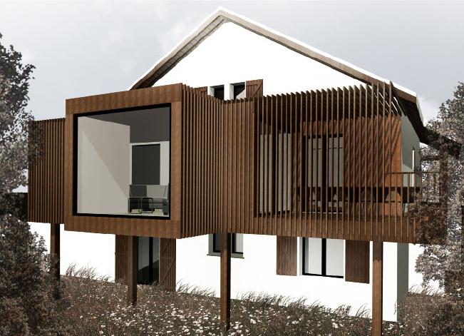 extension la tour de salvagny zoomfactor architectes paris. Black Bedroom Furniture Sets. Home Design Ideas