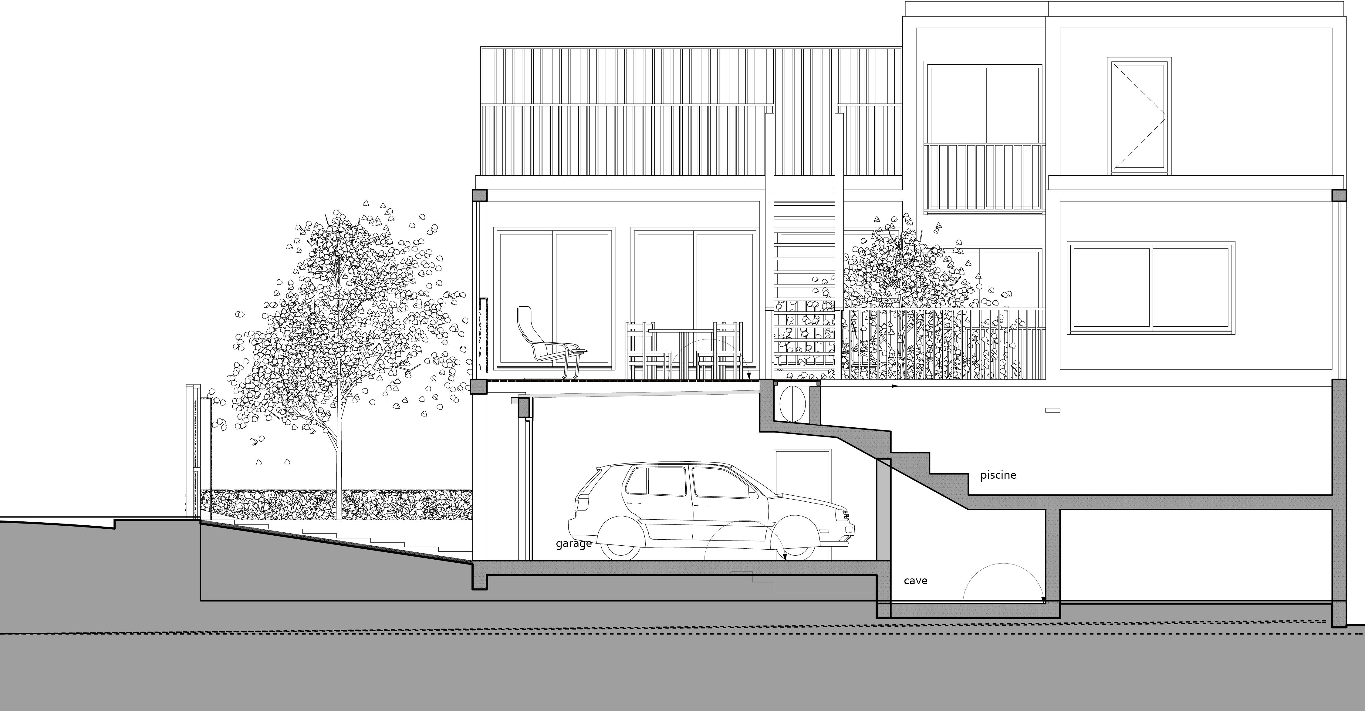 1 maison ch tillon zoomfactor architectes paris for Chatillon piscine