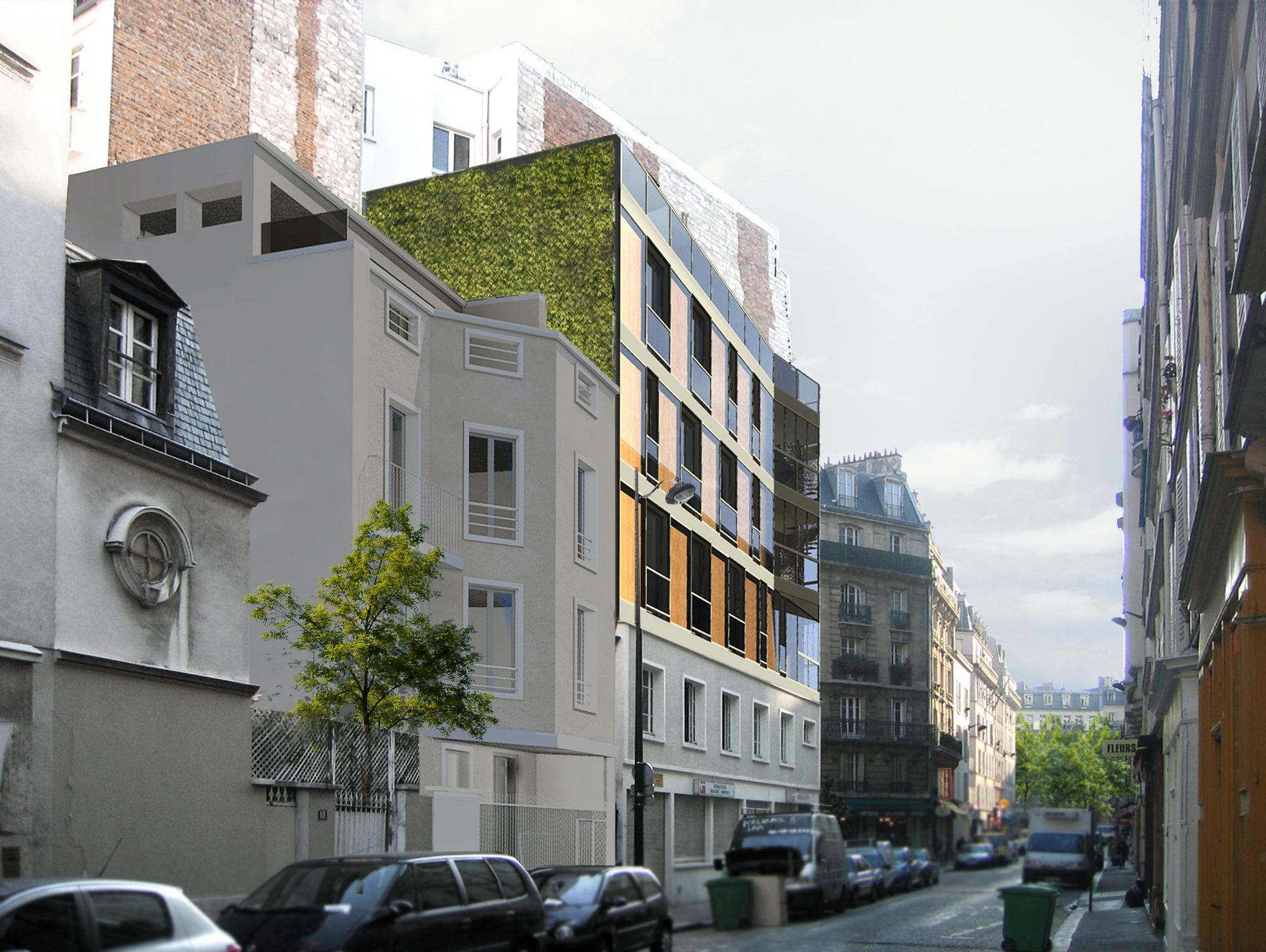 sur l vation rue de la sabli re paris 14 zoomfactor. Black Bedroom Furniture Sets. Home Design Ideas